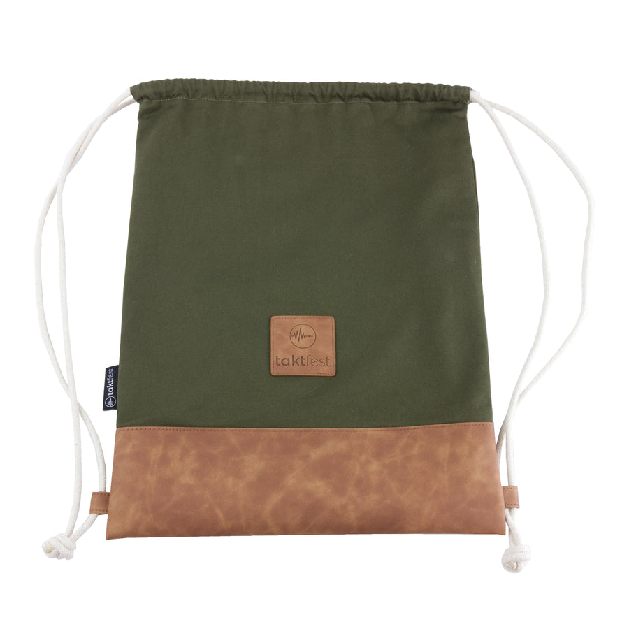 taktfest drawstring bag | green