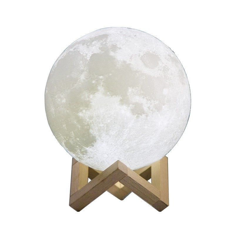 3D Moon Lamp LED Lunar Moonlight Night Light W/ 2 Color Touch Change Sensor