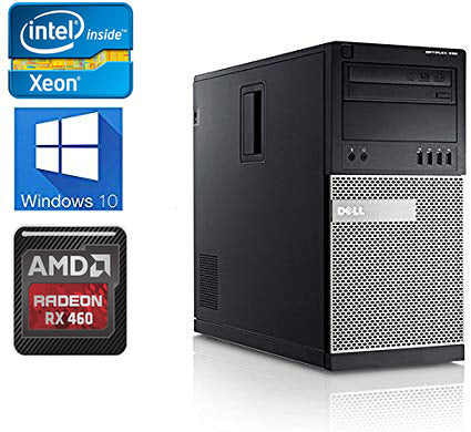 Budget Gaming PC Dell Optiplex 9010 Intel Xeeon E3-1220 3.1GHz 8GB RX 460 Win 10 Pro