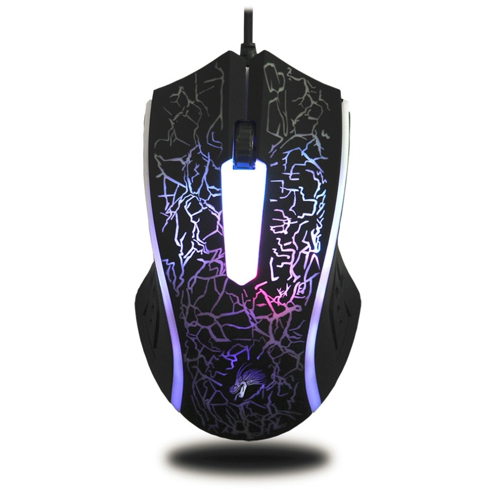 X7 4000DPI Wired  3 Button LED Gaming Mouse - VixBee