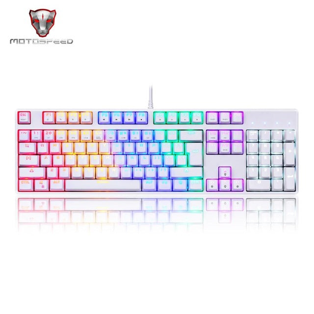 Motospeed 104 Key Mechanical Gaming Keyboard with LED Backlight - VixBee
