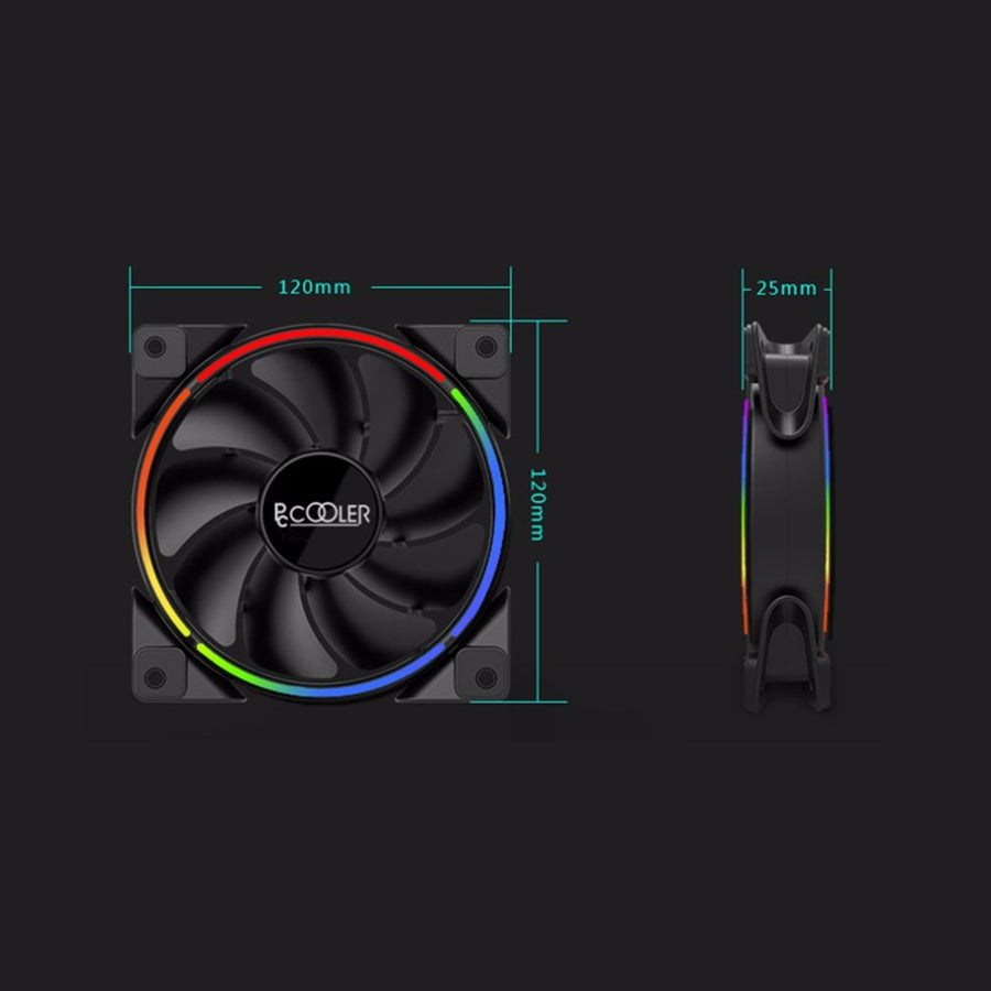 PCCOOLER 120mm CPU RGB PC Case Cooling Fan - VixBee