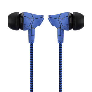 Powstro 3.5mm Fashion Design Nylon Braided Crack Earphones - VixBee