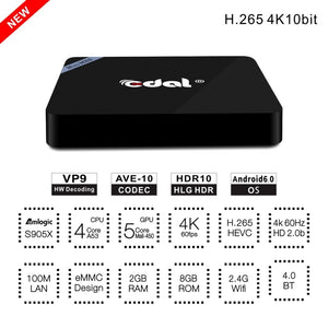Edal Mini M8S II Smart Android 6.0 TV Box - VixBee