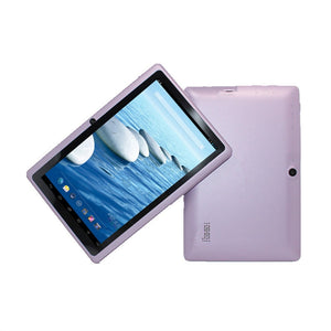 7 Inch Touchscreen Tablet PC Android 4.4.2 Quad-core Dual Cameras Supported WIFI and Bluetooth (Purple) - VixBee