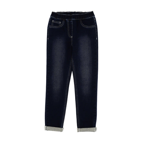 Pantalone felpato effetto Jeans bimba Stretch Monnalisa - Fashion4kids016