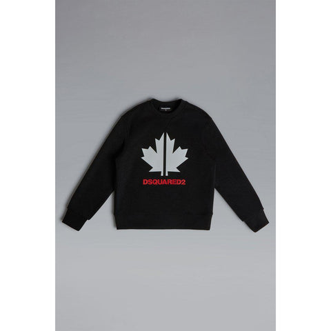 Maglia felpa bimbo Sport Maple Leaf Crewneck Sweatshirt Dsquared2 - Fashion4kids016