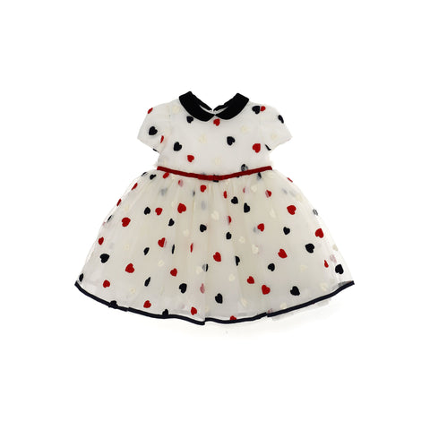 Abito vestito neonata in tulle multistrato Monnalisa - Fashion4kids016