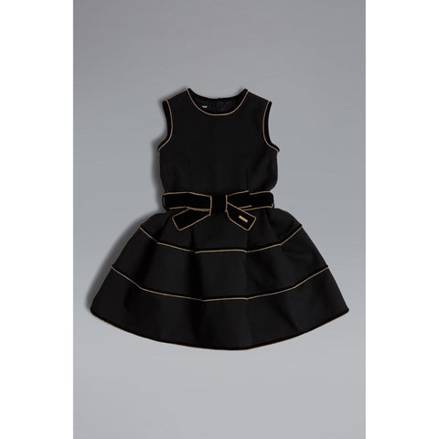 Abito bimba Dsquared2 Bow Detailed Flared Dress - Fashion4kids016