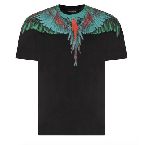 Maglia t-shirt maniche corte bimbo Marcelo Burlon Green Wings - Fashion4kids016