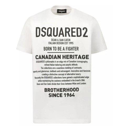 Maglia T-shirt bimbo Dsquared2 Canadian Heritage - Fashion4kids016