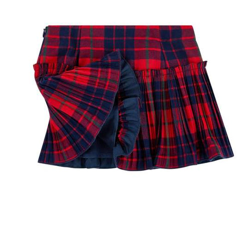 Gonna bimba fantasia tartan Il Gufo - Fashion4kids016
