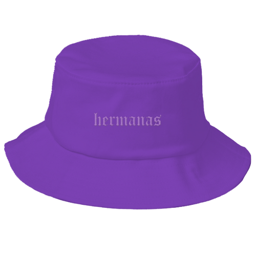 Hermanas Bucket Hat Purple