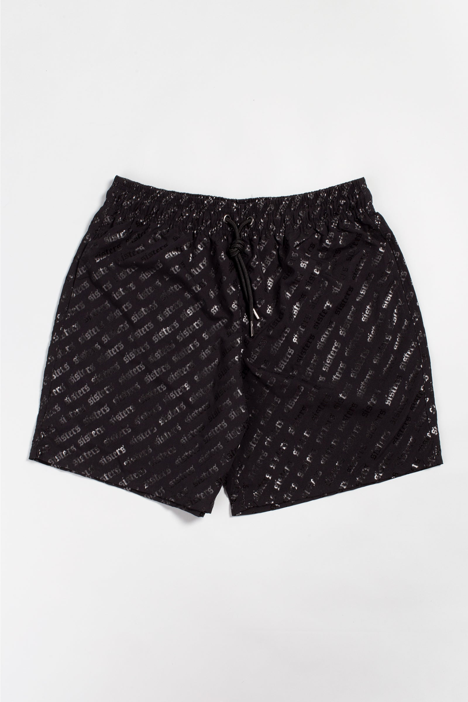 Sisters Black on Black Swim Trunks
