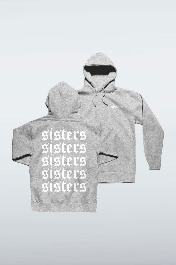 Repeating Heather Grey Hoodie