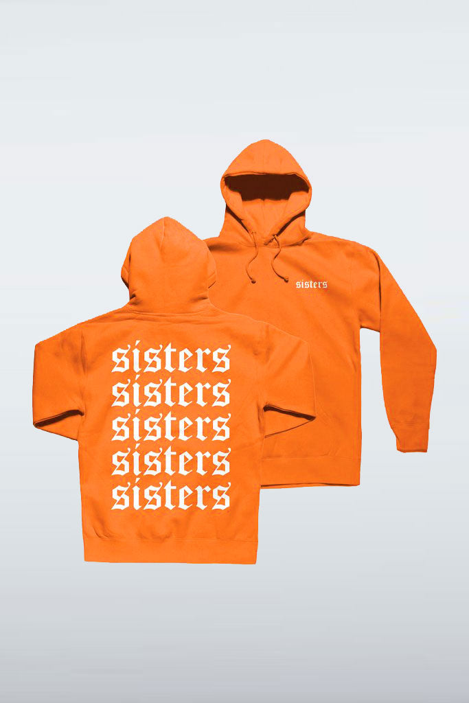 Repeating Orange Hoodie