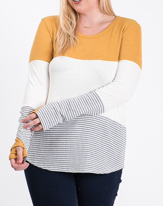 Color block top - Curvy Girl