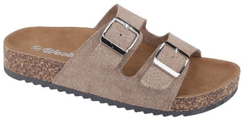 Double buckle slip on