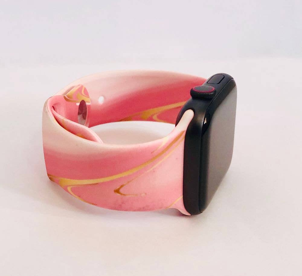 Pink Marble Apple Watch Band