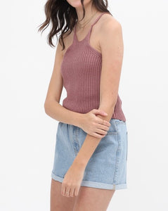 Racer back knitted crop top