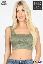 Load image into Gallery viewer, Lace front seamless bralette - Curvy Girl - Multiple colors available