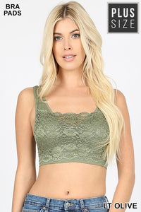 Lace front seamless bralette - Curvy Girl - Multiple colors available