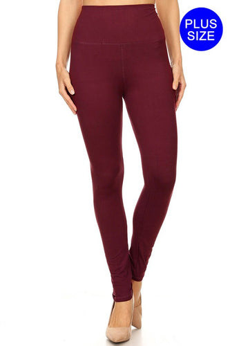 Extra wide waistband leggings - Curvy Girl