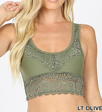 Load image into Gallery viewer, Seamless stretch lace bralette