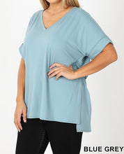 Load image into Gallery viewer, Butter soft rolled short sleeve top - Curvy Girl