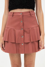 Load image into Gallery viewer, Faux leather skirt