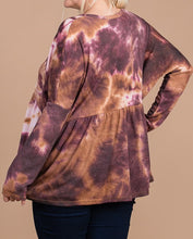 Load image into Gallery viewer, Tie dye button up - Curvy Girl
