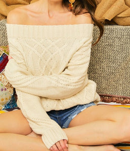 Chelsea cable knit sweater
