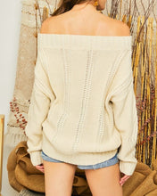Load image into Gallery viewer, Chelsea cable knit sweater