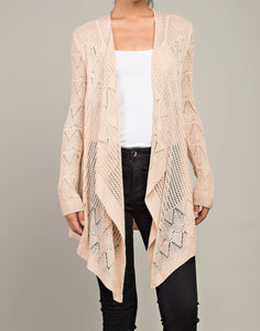 Knitted lace cardigan