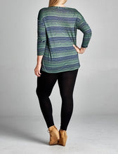 Load image into Gallery viewer, Jersey striped tunic - Curvy Girl