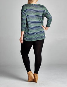 Jersey striped tunic - Curvy Girl