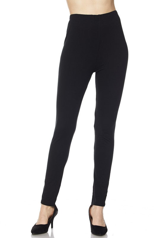 Brushed solid ankle leggings