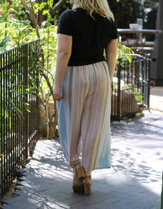 Striped casual pants - Curvy Girl