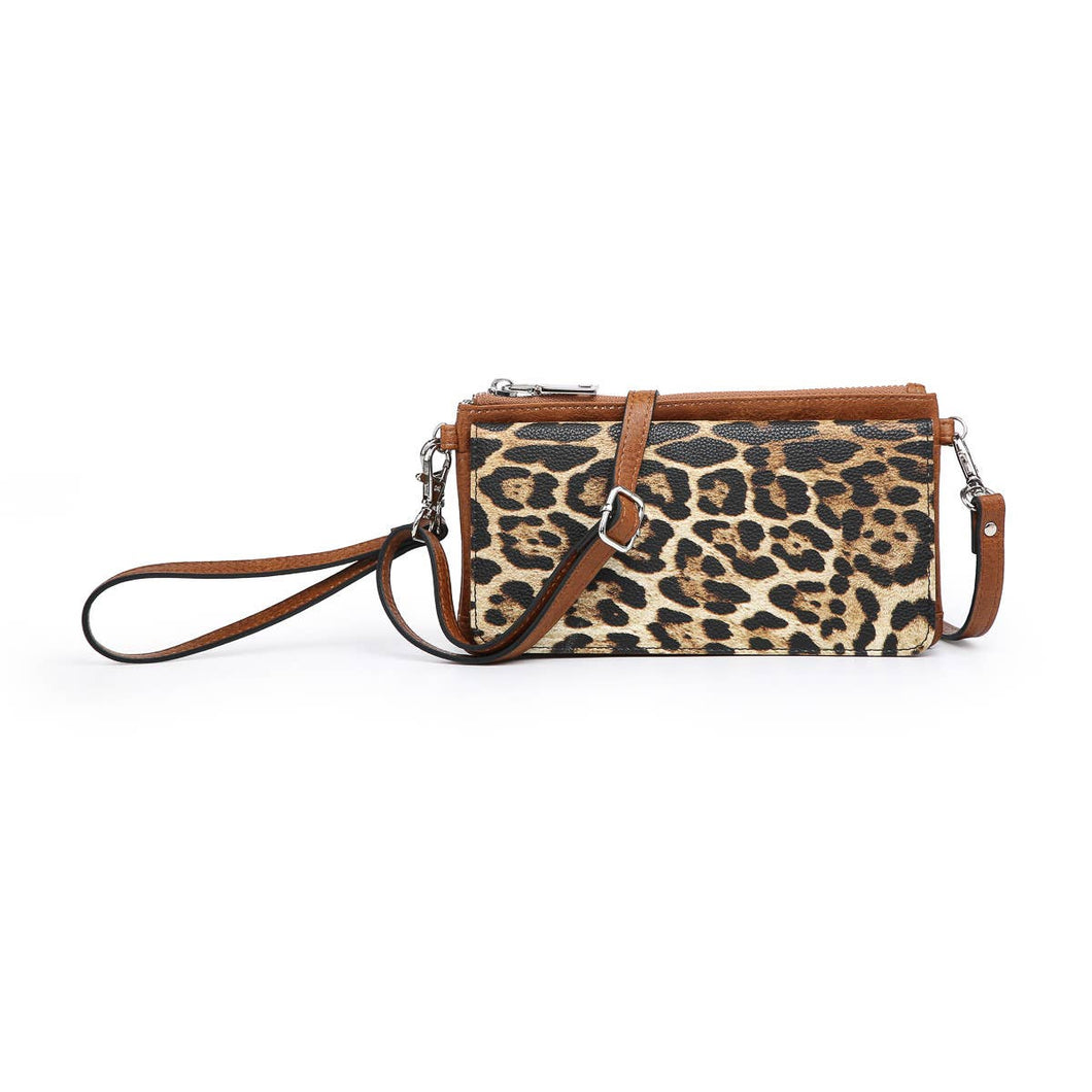 Animal print crossbody