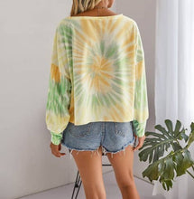 Load image into Gallery viewer, Slouchy crew neck tie dye