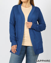 Load image into Gallery viewer, Open front cardigan - Curvy Girl