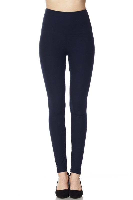 5 inch waistband ankle leggings