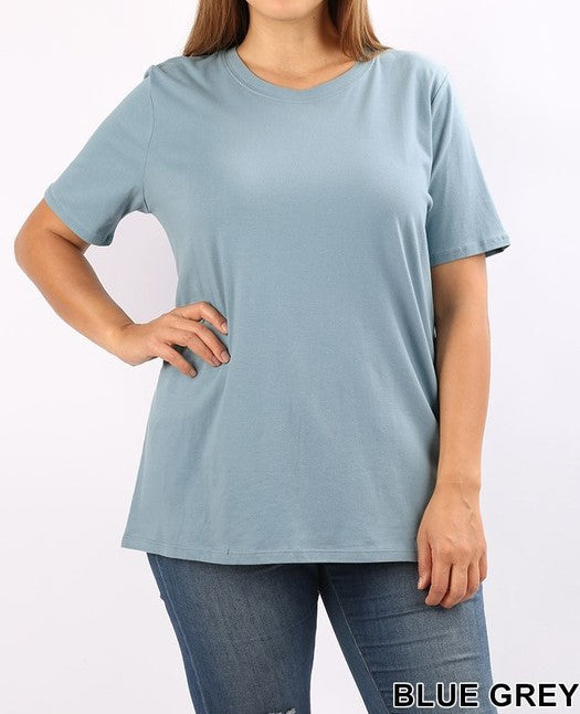 Cotton crew neck t-shirt - Curvy Girl