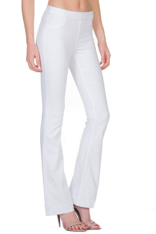 Cello White wash flare jeggings
