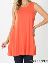 Load image into Gallery viewer, Sleeveless straight hem tunic
