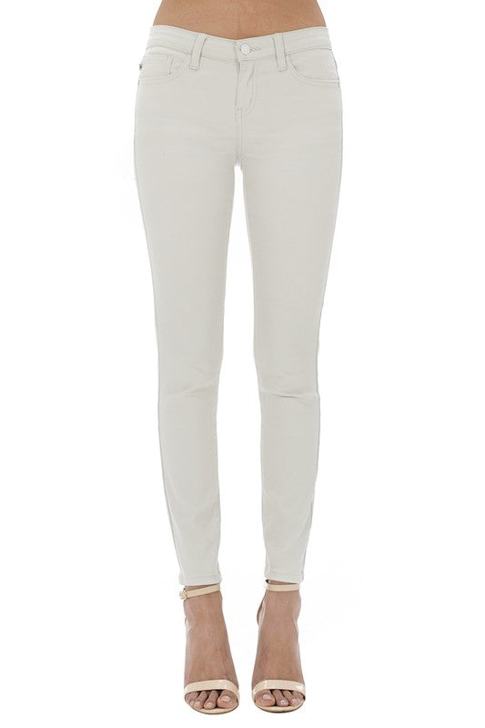 JUDY BLUE sand colored skinny jeans