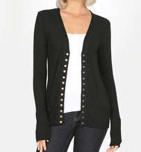 Load image into Gallery viewer, Snap button cardigan - Available in multiple colors