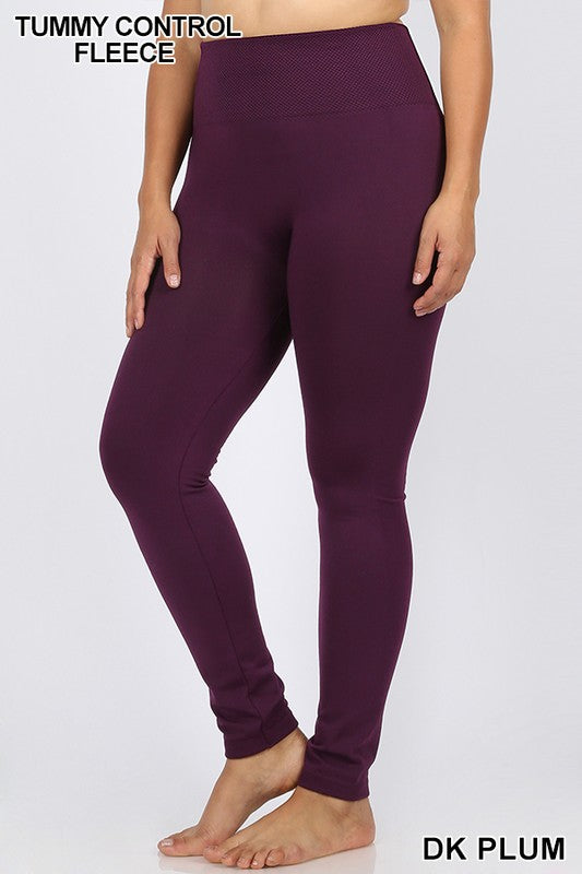 Seamless fleece leggins - SIZED -Curvy Girl