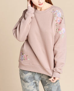 Terry fleece sweatshirt