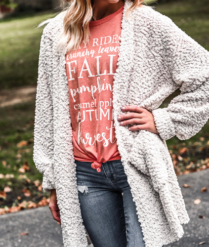 The Ellie popcorn cardigan